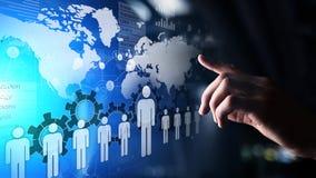 Het personeel, u-beheer, Rekrutering, Talent wilde, Werkgelegenheids Bedrijfsconcept stock fotografie