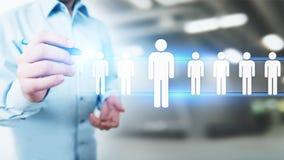Het personeel, u-beheer, Rekrutering, Talent wilde, Werkgelegenheids Bedrijfsconcept stock foto