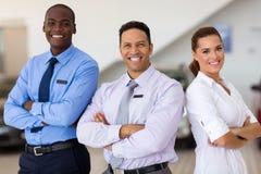 Het personeel van de autoverkoop Stock Afbeelding