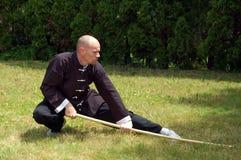 Het Personeel van de Kungfu van Shaolin Royalty-vrije Stock Fotografie