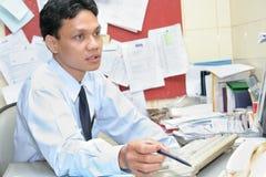 Het personeel van het bureau stock afbeeldingen