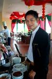 Het personeel van het restaurant Stock Afbeelding