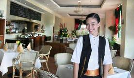 Het personeel van het restaurant op het werk Stock Fotografie