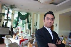 Het personeel van het restaurant trots op het werk Stock Foto's