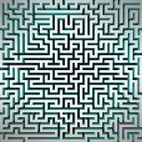 Het perspectief hoogste mening van de labyrint blauwe lichte structuur stock illustratie