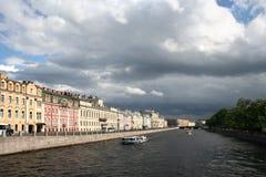 Het perspectief op de rivier Royalty-vrije Stock Afbeeldingen