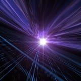 Het Perspectief van de horizon over Licht Net Royalty-vrije Stock Afbeeldingen