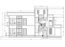 Het perspectief van de huisblauwdruk vector illustratie