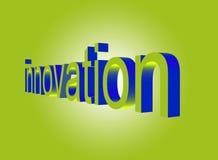 Het perspectief van de innovatie op groen Stock Fotografie