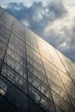 Het perspectief van de Piramide van het Louvre Royalty-vrije Stock Fotografie