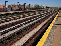 Het perspectief van de spoorweg. Stock Fotografie