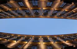 Het perspectief van gebouwen Stock Afbeelding
