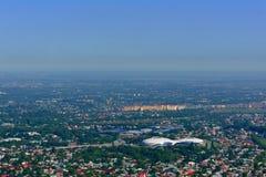 Het perspectief van het de stadslandschap van Alma Ata Royalty-vrije Stock Afbeelding