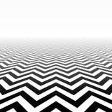 Het perspectief van het zigzagpatroon Stock Foto's