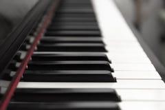 Het perspectief van pianosleutels stock foto