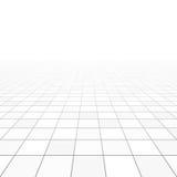 Het perspectief van vloertegels Stock Afbeeldingen