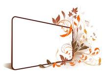 Het perspectiefframe van de bloem Vector Illustratie