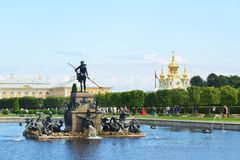 Het Peterhof-de Zomerpaleis stock afbeelding