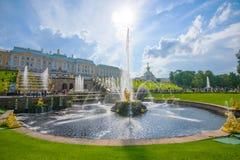 Het Peterhof-de Zomerpaleis royalty-vrije stock fotografie