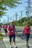 Het Pharmaprix-Weekend om Kanker van Vrouwen te beëindigen Stock Fotografie