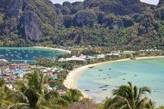 Het phi-Phi trekt eiland aan Stock Foto