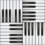 Het pianotoetsenbord, regelt naadloos patroon Royalty-vrije Stock Foto