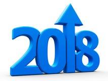 het pictogram compact blauw van 2018 met pijl Royalty-vrije Stock Fotografie