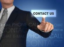 Het pictogram 3d illustratie van het zakenman dringende contact Stock Fotografie