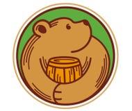 Het pictogram draagt met honing Stock Foto
