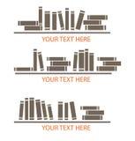Het pictogram en het embleemontwerpen van het boek Stock Foto