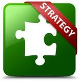 Het pictogram groene vierkante knoop van het strategieraadsel Stock Foto