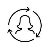 Het pictogram of het embleem van de premiegebruiker in lijnstijl Royalty-vrije Stock Foto's
