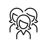 Het pictogram of het embleem van de premiegebruiker in lijnstijl Royalty-vrije Stock Afbeeldingen