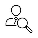 Het pictogram of het embleem van de premiegebruiker in lijnstijl Stock Fotografie