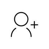 Het pictogram of het embleem van de premiegebruiker in lijnstijl Stock Foto