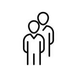 Het pictogram of het embleem van de premiegebruiker in lijnstijl Royalty-vrije Stock Fotografie
