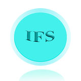 Het pictogram of het symboolbeeldconceptontwerp van IFS met bedrijfsvrouwen voor Stock Afbeelding