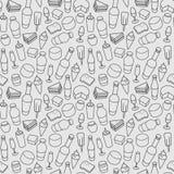 Het pictogram naadloos patroon van de voedsellijn Moderne vector Royalty-vrije Illustratie