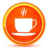 Het pictogram natuurlijke oranje ronde knoop van de koffiekop royalty-vrije illustratie