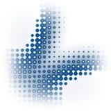 Het pictogram omcirkelt dynamische textuur Royalty-vrije Stock Afbeeldingen