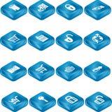 Het Pictogram S van de veiligheid en van de Elektronische handel Stock Afbeeldingen
