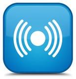 Het pictogram speciale cyaan blauwe vierkante knoop van het netwerksignaal Stock Fotografie
