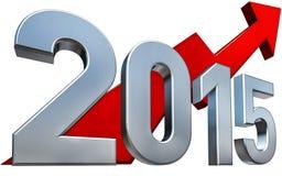 het pictogram van 2015 Stock Foto's