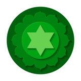 Het pictogram van Anahatachakra stock foto