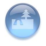 Het Pictogram van Aqua Stock Afbeelding