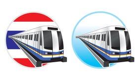 Het pictogram van Bangkok subwaytrain Stock Fotografie