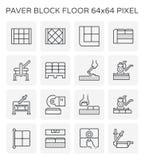 Het pictogram van het betonmolenblok Stock Afbeeldingen