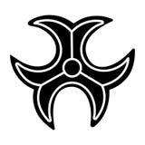 Het pictogram van het Biohazardteken, vectorillustratie, zwart teken op geïsoleerde achtergrond royalty-vrije illustratie
