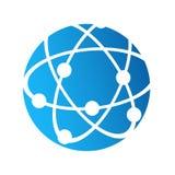 Het pictogram van het bolembleem, Internet-verbindings communicatie concept, stoc royalty-vrije illustratie