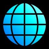 Het pictogram van het bolsymbool - cyaan blauwe geïsoleerde gradiënt, - vector stock illustratie